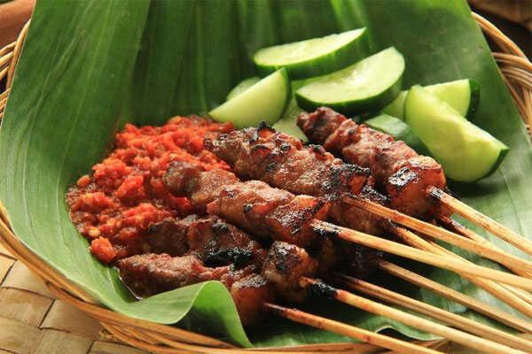 satai indonesia dish